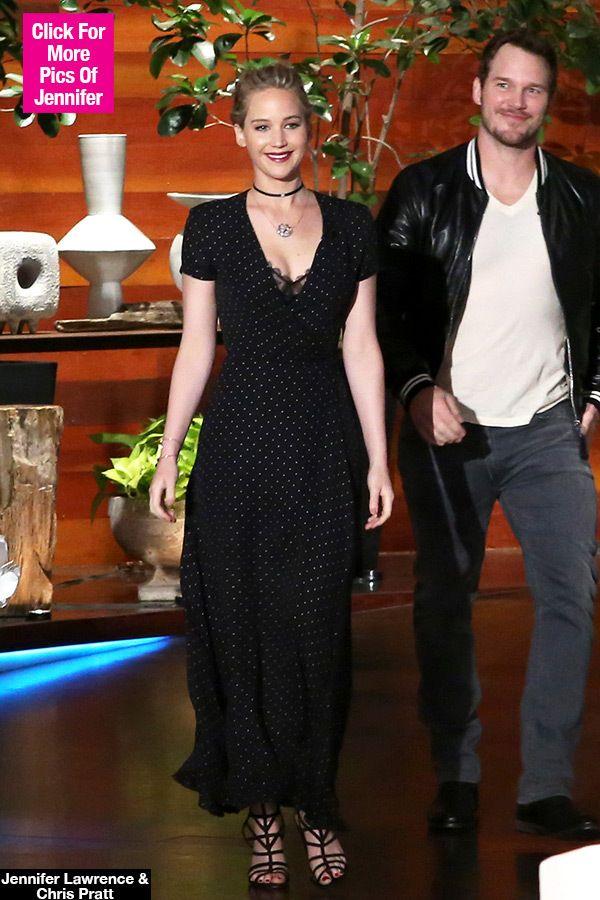 Jennifer Lawrence Polka Dot Dress