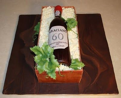 Wine Bottle Crate Cake (tutorial)