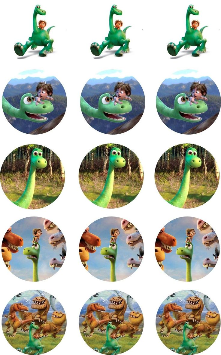 "The Good Dinosaur Cup Cake Toppers 15 x 2"" PreCut Rice Paper or Icing in Crafts, Cake Decorating 