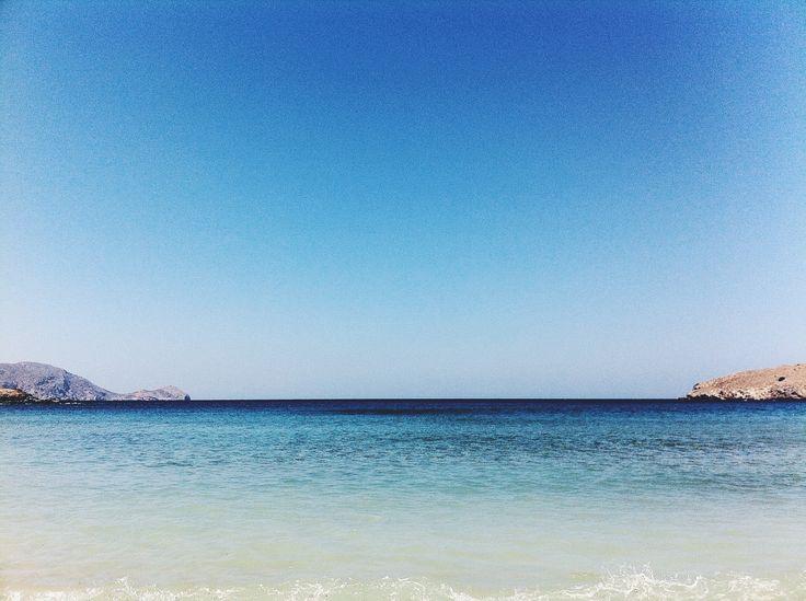 Delfini Beach, Syros, Greece