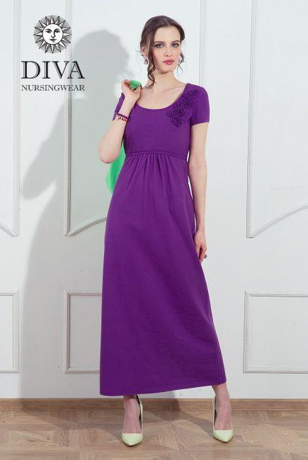 Diva Nursingwear Dalia Viola. Free shipping worldwide!