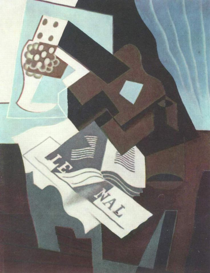 TICMUSart: Still Life with Guitar, Book and newspaper - Juan Gris (1919) (I.M.)