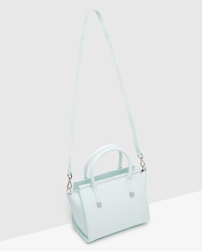 Crosshatch leather tote bag - Mint | Bags | Ted Baker