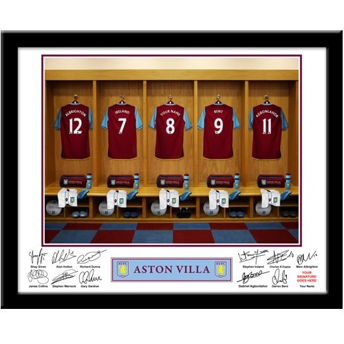 Personalised Aston Villa Dressing Room Print  from Personalised Gifts Shop - ONLY £29.95