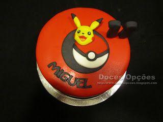 Doces Opções: Bolo de aniversário Pikachu