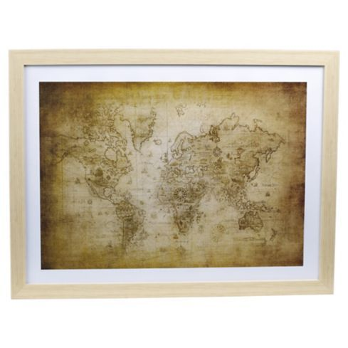 Cuadro mapamundi 50x66 cm