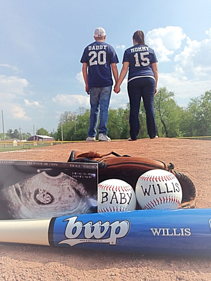 Our baseball baby announcement!