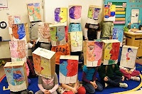 Art Projects for Kids: Student Art from Mukilteo, Washington Picasso inspired paper bags