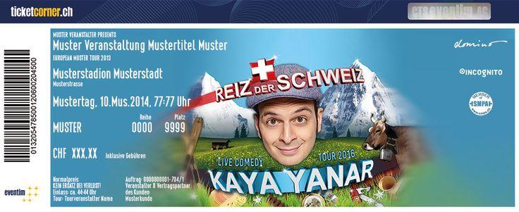 """Der Weltenbummler unter den Comedians und die Schweiz #KayaYanar Im neuen Programm """"Der Reiz der Schweiz"""". Tickets: http://www.ticketcorner.ch/kaya-yanar-Tickets.html?affiliate=TCS&doc=artistPages%2Ftickets&fun=artist&action=tickets&erid=1347326"""