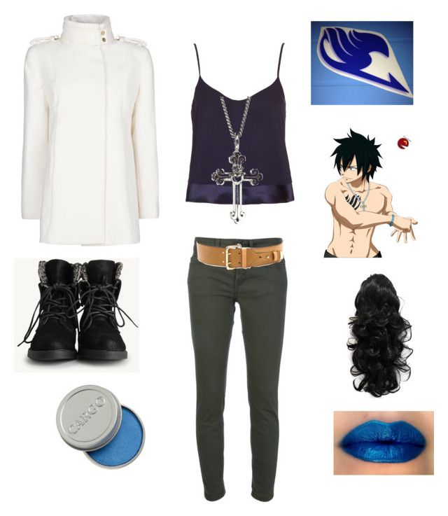 """Gray Fullbuster: Fairy Tail"" by angle12345 ❤ liked on Polyvore featuring Topshop, MANGO, Dondup, King Baby Studio, Linea Pelle, CARGO, women's clothing, women, female and woman"