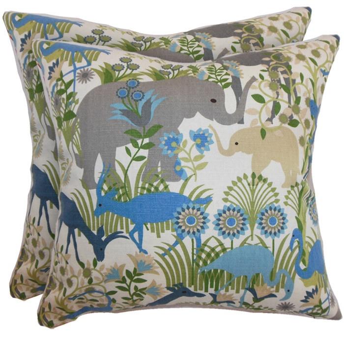 Grasslands Pillow in Blue Haze (Set of 2)