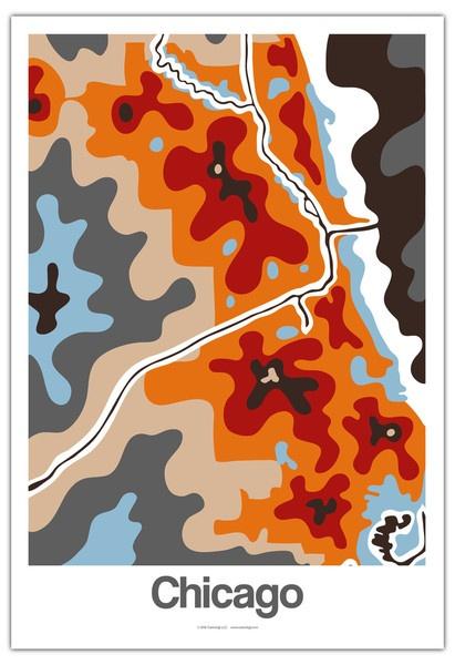 Chicago Map  #Chicago #Map #Cartoloji