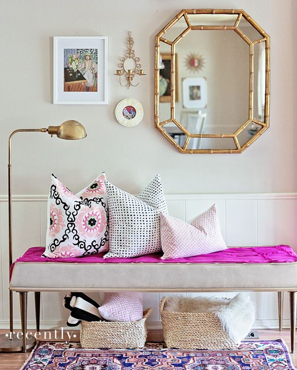 Wayfair This Room: Posh Pink Eclectic Entryway