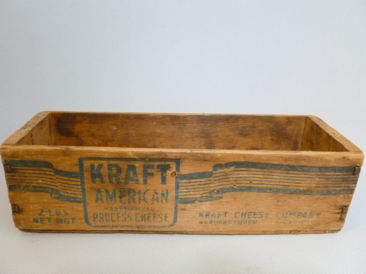 Vintage Wooden Kraft American Cheese Wooden Box Crate by Tracyloustreasures on Etsy