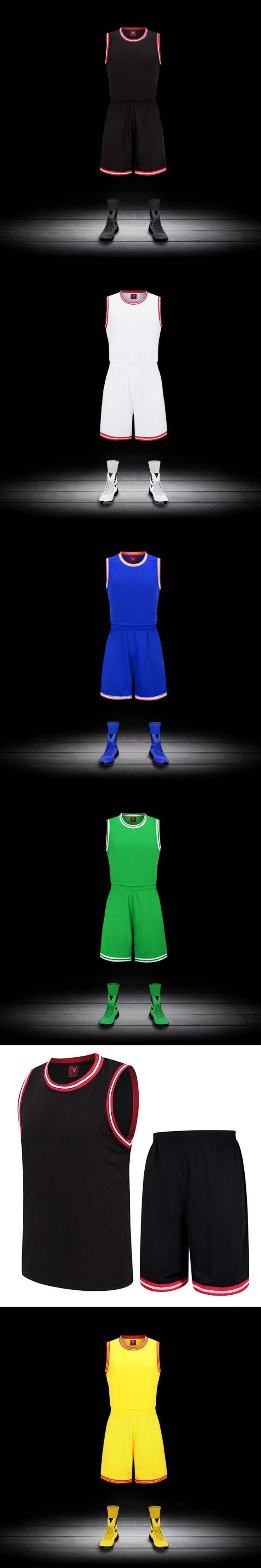 2017 New Men Basketball Jersey Sets Uniforms Adult Sports clothing Breathable basketball jerseys shirts shorts DIY Customized