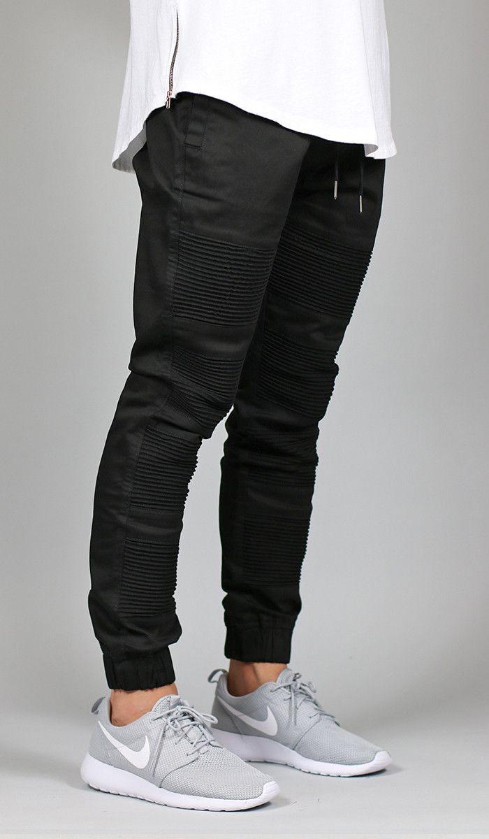 Black Moto Tapered Jogger