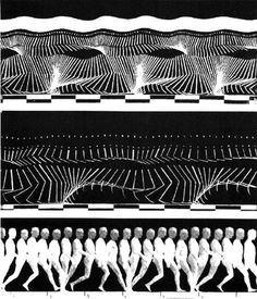 Jules Etienne Marey photographie la décomposition des mouvements pendant la locomotion humaine. JPEG - 86.4 ko