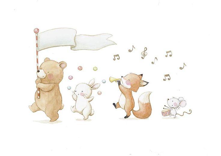 Títol: Els animals també canten Autor: anonim En aquesta fotografia podem observar com un grup d'animals esta cantan