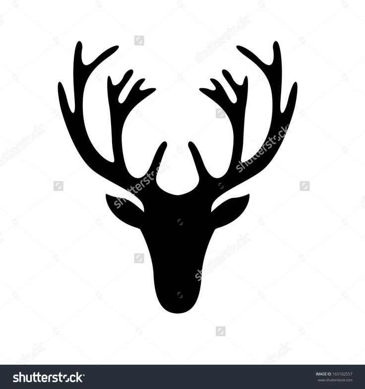 41 Best Deer Head Silhouette Images On Pinterest Deer