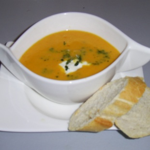Süßkartoffel-Ingwer-Suppe
