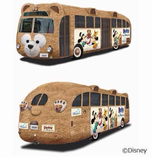 Amazing Duffy the Disney Bear special tour bus in Japan!!!