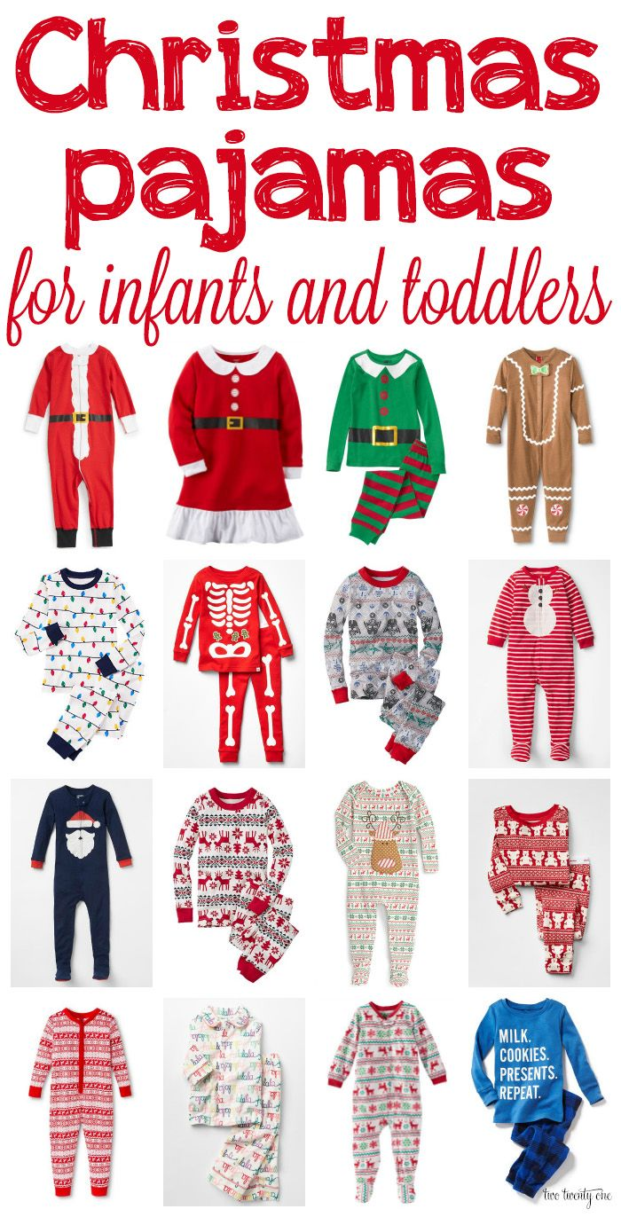 Christmas pajamas for infants and toddlers! Love these!
