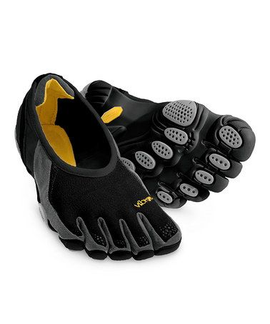 Take a look at this Black & Silver Jaya Shoe - Women by Vibram FiveFingers  on