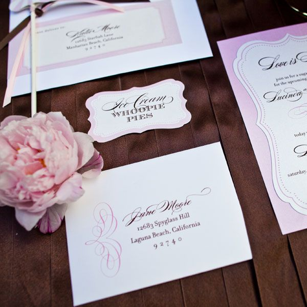 Pink wedding invites and other paper products: Photos Books, Wedding Planning Ideas, Guide Magazines, Wedding Parties Ideas, Bridal Shower, Wedding Pink Linens Blushes, Paper Products Repin, Bridal Guide, Pink Bridal