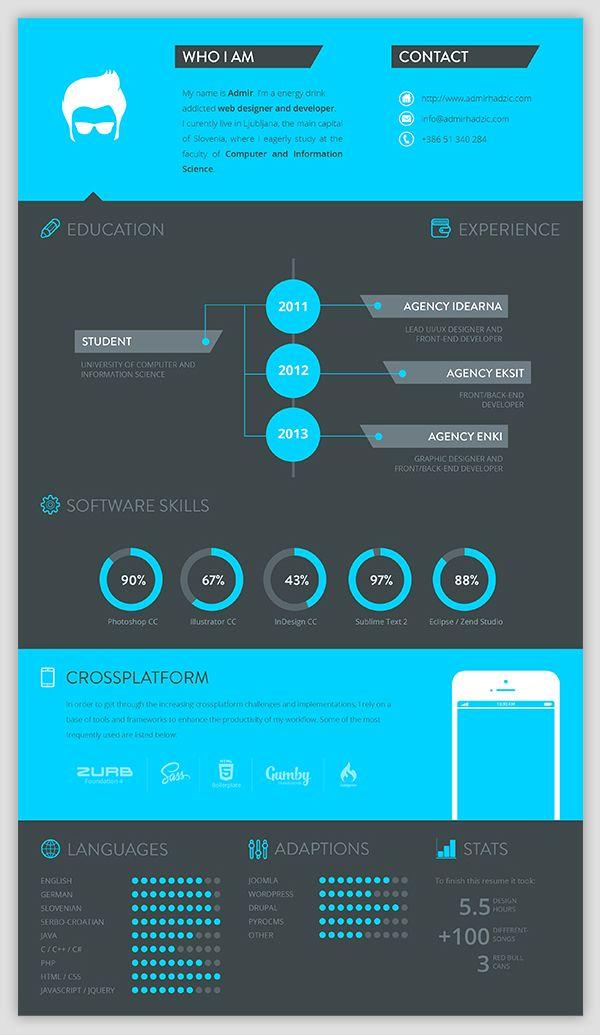 8 best Resume images on Pinterest Cv design template, Design - graphic designers resume