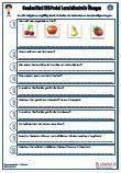 #HSU #Gemuese / #Obst Unterrichtsmaterial für den Sachkundeunterricht.  Verschiedene Fragen zu dem Thema: Gemüse / Obst • #Obstsorten •Obstfamilie •Gemüsesorten •Südfrüchte • #Steinobst • #Kernobst •Vitamine •Obstfamilien •Beeren •Kulturpflanze •34 Fragen •2 x Lernzielkontrollen •Ausführliche Lösungen •15 Seiten