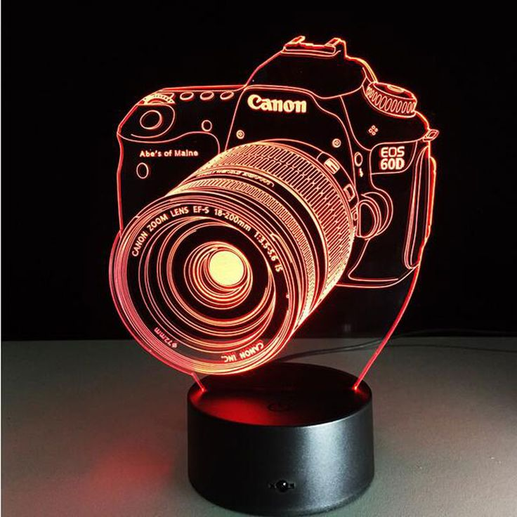 Photo Camera 3D Illusion Lamp //Price: $29.99 & FREE Shipping //     #hashtag4