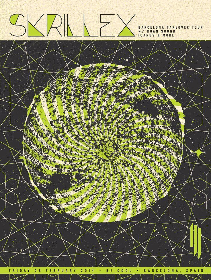 Skrillex Concert Poster Barcelona Spain