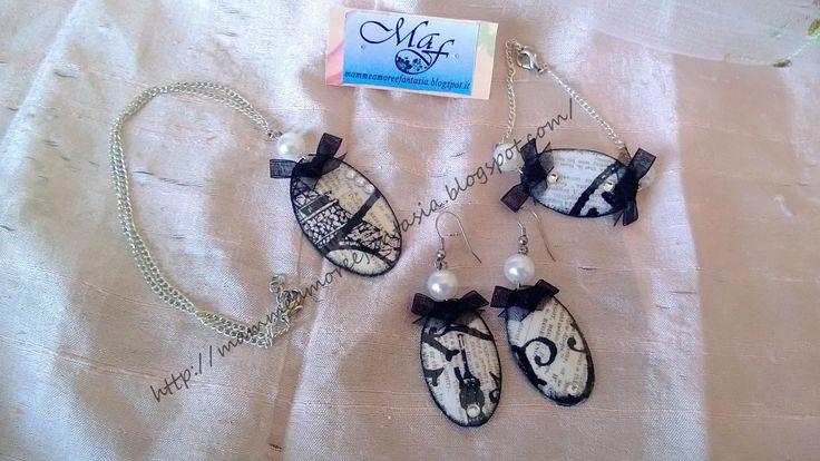 """DIY & Craft - eco bijoux parure """"Ancien Paris"""""""