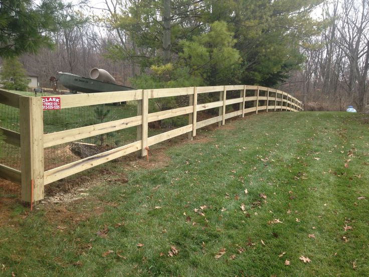 3 Rail Kentucky Board Fence With Liner Outdoor Outdoor Structures