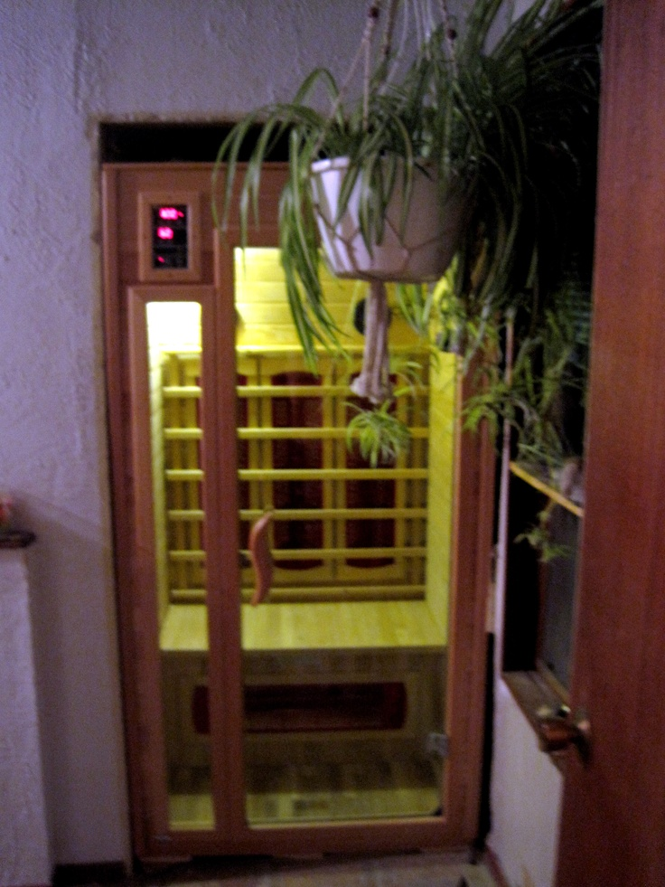 The Infra Sauna we put in our home...it is a great addition and after being in the sauna I soak in an Epsom Salt tub and have that spa feel in our home. Gotta love it...and I do!                                                                                                                                                                                 More