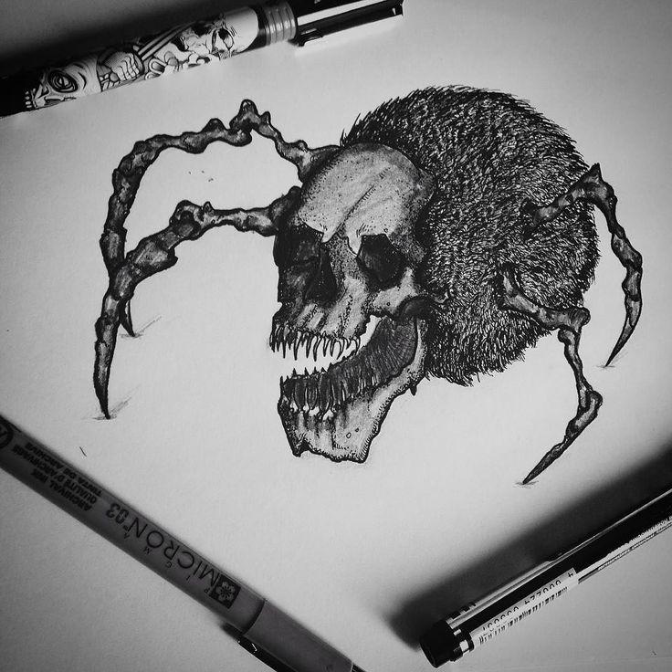 Fresh WTFDotworkTattoo Find Fresh from the Web #art#darkart#blackink#blackinkdisign#tattoo#blacktattoo#dotwork#spider#skull#nightmare danieldandanya_ WTFDotWorkTattoo