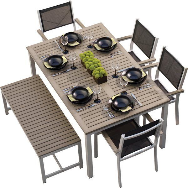 You'll love the Farmington 6 Piece Dining Set With Sling Back chairs at AllModern - With Great Deals on modern Outdoor products and Free Shipping on most stuff, even the big stuff.