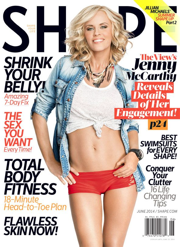 Jenny McCarthy on the June Cover of Shape Magazine - Shape Magazine