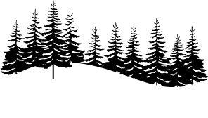 MEMORY BOX/ F1900 dřevěné razítko Snowy Pine Landscape