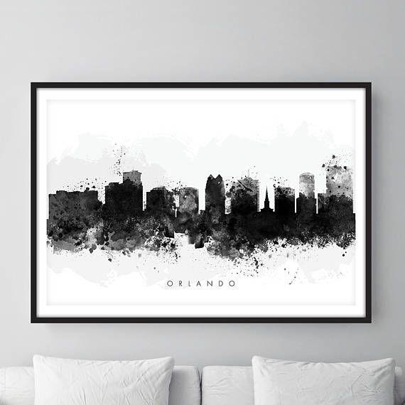 Check out this item in my Etsy shop https://www.etsy.com/uk/listing/526355563/orlando-skyline-orlando-florida