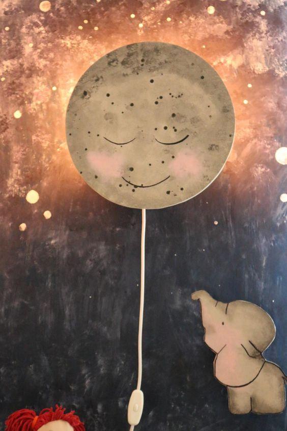 ᐅ Kinderzimmerlampe selber bauen DIY | Baby | Mond lampe, Lampe ...