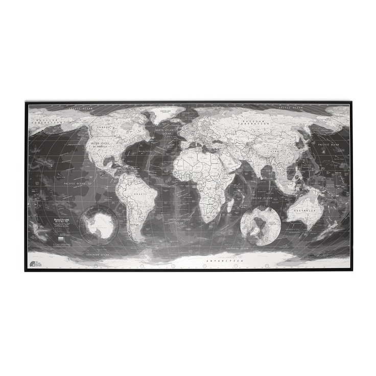 gorgeous black and white map - 4ft x 2ft - only $28!!