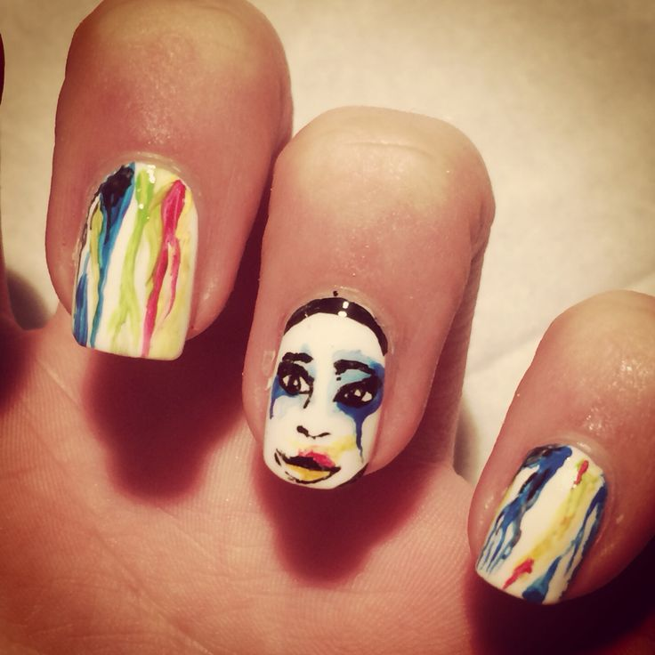 Lady gaga applause nail art #nailart #unghie #applause #ladygaga