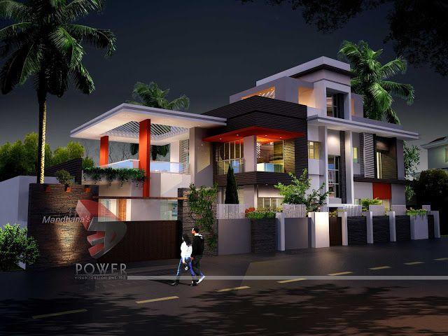 3d Architecture Rendering Ultra Modern Home Design