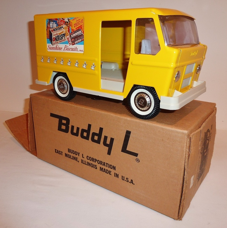 Chevy Box Van For Sale BUDDY L Pressed Steel 1960s SUNSHINE DELIVERY STEP VAN ...