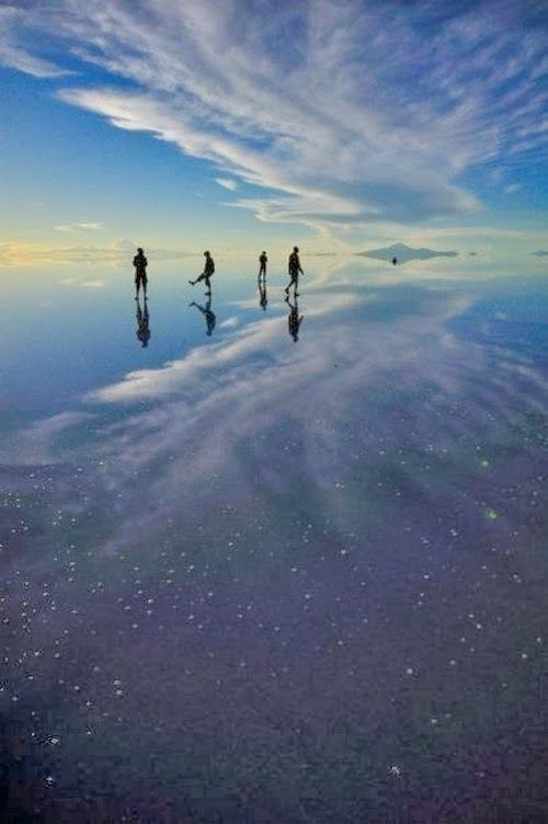 Salar de Uyuni is the world's largest salt flat at 10,582 square kilometers. It is located in the Potosí and Oruro departments in southwest Bolivia, near the crest of the Andes and is at an elevation of 3,656 meters above mean sea level.