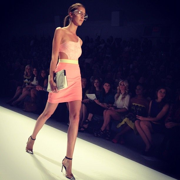 In this #Milly look, the top is actually a swimsuit, says the WSJ's Elizabeth Holmes. #nyfw