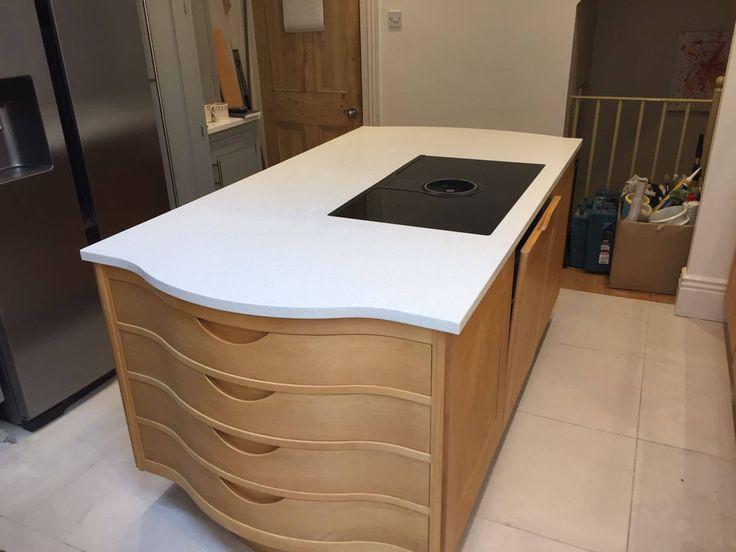 """This is the Bianco Minerale. This is a white quartz also know as """"salt 'n' pepper"""". It features white and darker sand speckles throughout."""