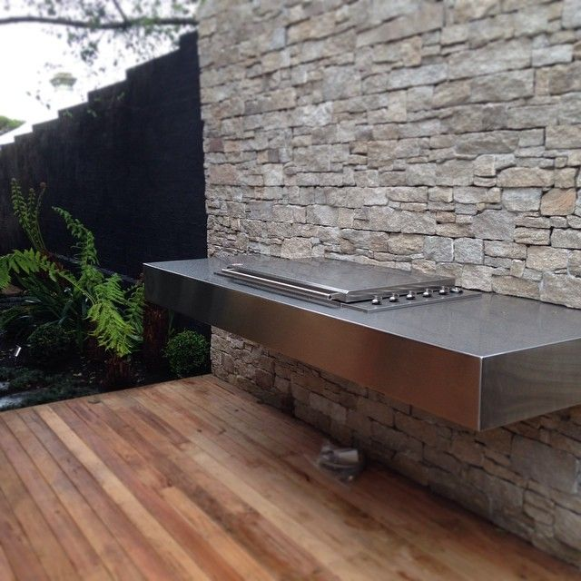 Canterbury project BBQ looks great floating off the new stonework. #WarburtonProject