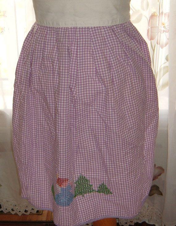Vintage apron  purple  women's baking apron  by NewtoUVintage, $7.99